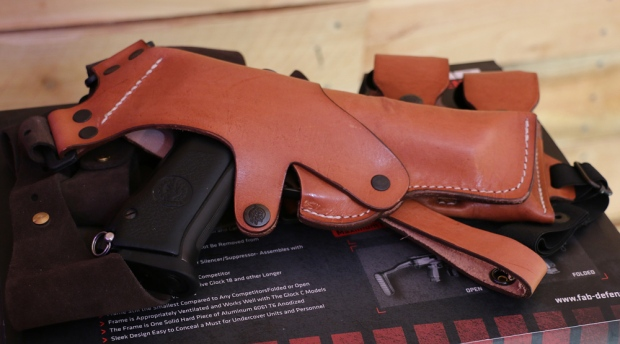 Jericho F Pistol in a Front Line Hinge Holster
